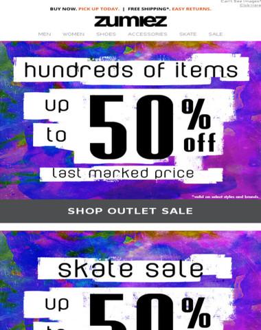HUGE SALE: Up To 50% Off