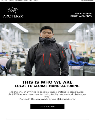 Proven in Canada; Built by Arc'teryx