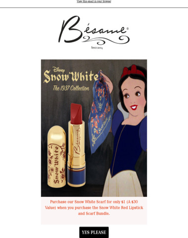 $1 Silk Scarf with Purchase - Bésame Cosmetics August 9th