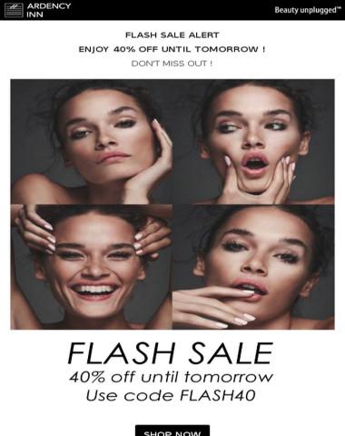 ⚫Flash Sale Alert ! 40% Off until tomorrow !