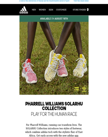 Preview the Pharrell Williams SOLARHU Collection