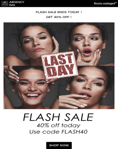 ⚫Flash Sale ends today ! Get 40% Off !