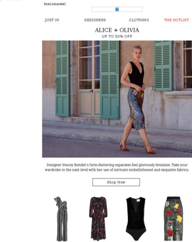 Just landed: Alice + Olivia at up to 50% off