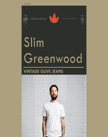 Slim Greenwood | Vintage Olive
