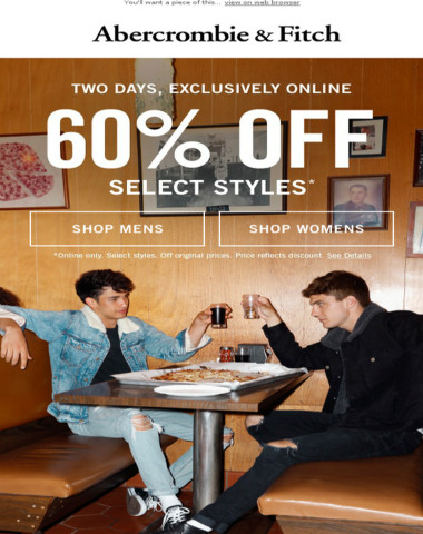 60% OFF going on now!