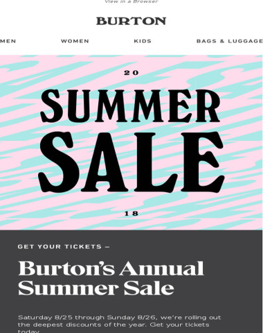 Happening Now - The Annual Summer Sale