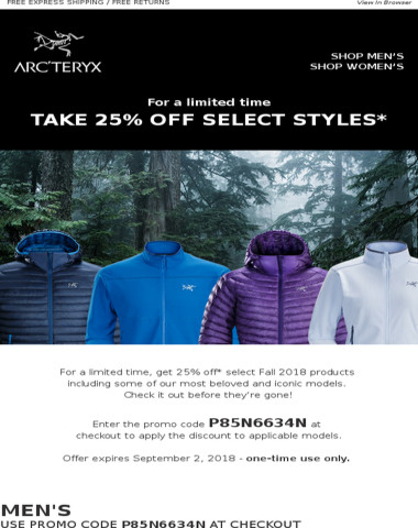 Limited Time Offer: 25% OFF* Select Styles