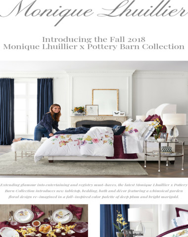 Introducing the Monique Lhuillier x Pottery Barn Fall 2018 Collection