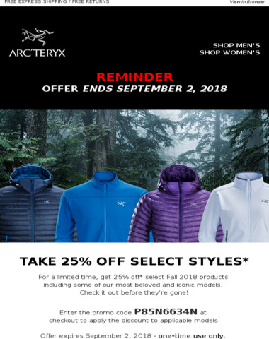 Last chance - 25% OFF* select styles