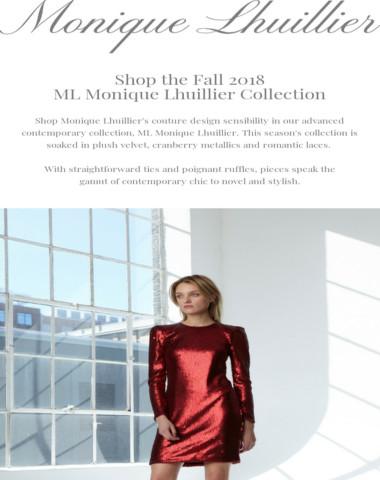 The ML Monique Lhuillier Collection Has Arrived!