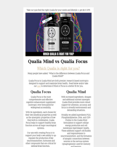 Which Qualia is right for you?