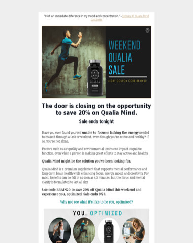 The Qualia Sale Ends Tonight
