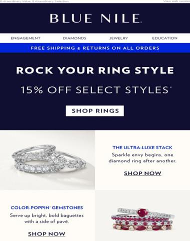 Fall Styles: 15% Off Diamond & Gemstone Rings