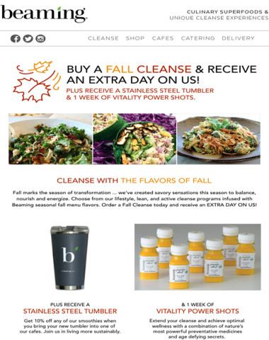 Fall Cleanse Special: Extra day on us!