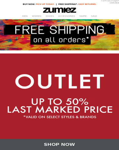 OUTLET ⇨ Up to 50% OFF Last Marked Price