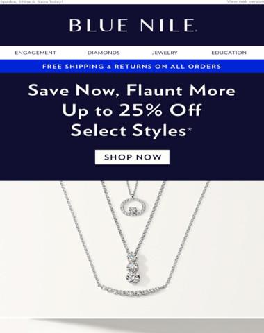 Up To 25% Off Diamond & Gemstone Jewelry