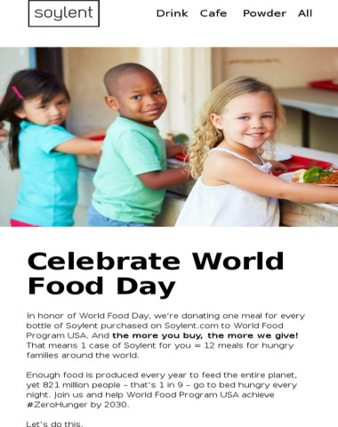 Today is the day! Join us for World Food Day!