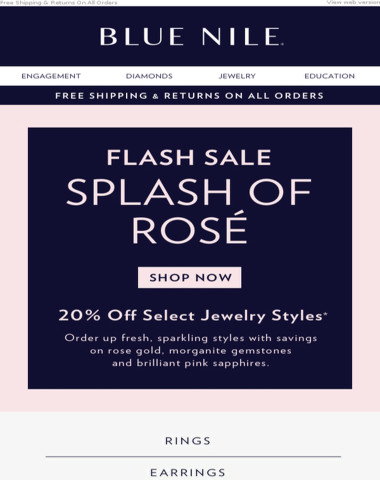 Save 20% on Pink Styles At Our FLASH SALE ⚡