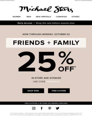 Early Access: Save 25% off Your Order