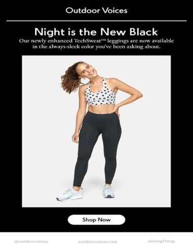 New: The TechSweat™ Legging in Night