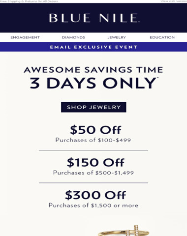 Save Up To $300 On Jewelry Picks