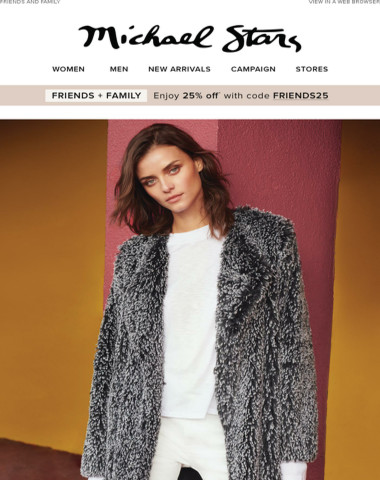 Plush Coats + Save 25% off Your Order