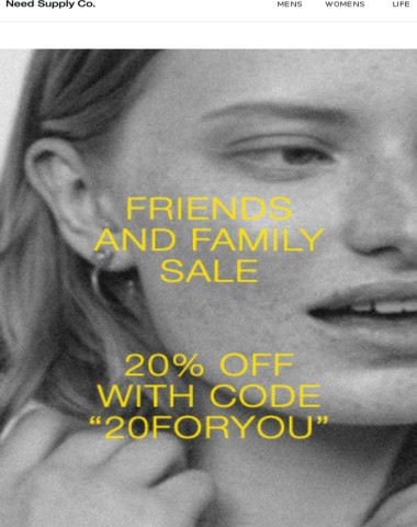 Ends Soon: Friends & Family Sale