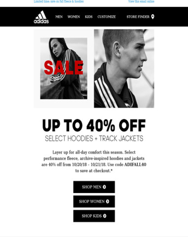 40% off cozy fall fleece & hoodies
