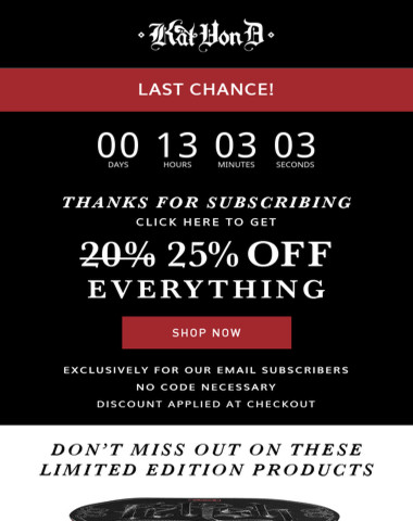 Ends tonight! Don't miss out on 25% off site-wide