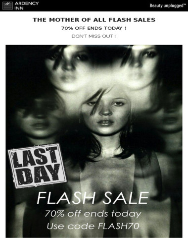 ⚫Flash Sale Alert ! 70% Off ends today !