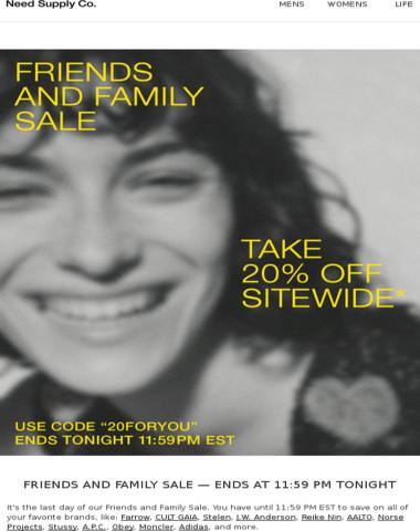 Last Chance — Sale Ends Tonight