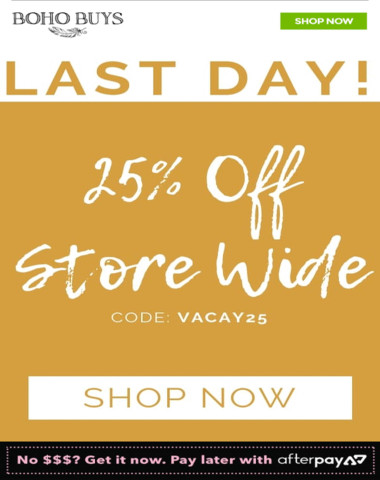 Sale ends TODAY!