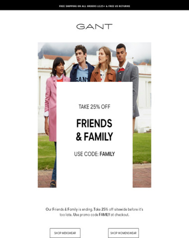 Last Day: Friends & Family Is Ending!