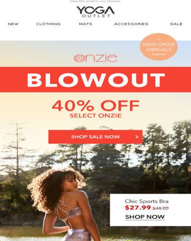 ONZIE BLOWOUT + NEW ARRIVALS ? Up to 40% off!