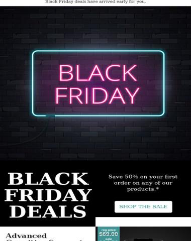 Black Friday Sale Starts Now