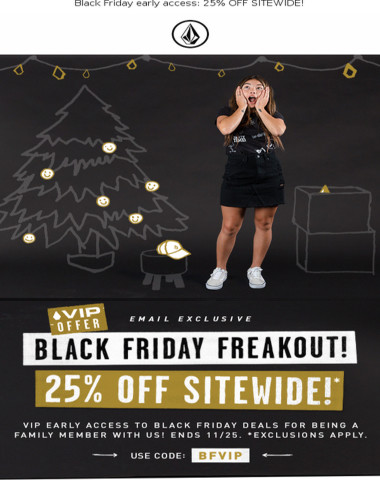Black Friday early access: 25% OFF SITEWIDE