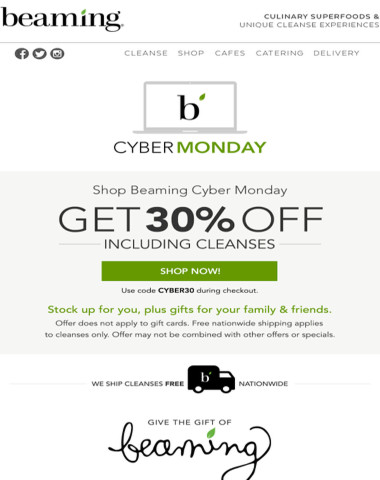 Cyber Monday - 30% off everything!