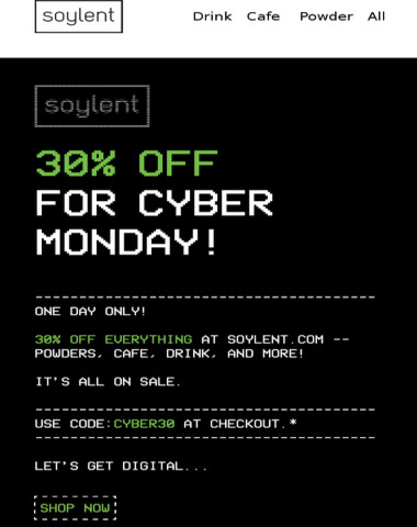 30% off sitewide ? Cyber Monday Sale!