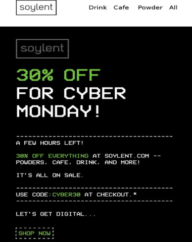 Cyber Monday Sale! Only a few hours left!