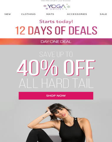 Save Up To 40% Off Hard Tail - 12 Days of Deals Has Begun!