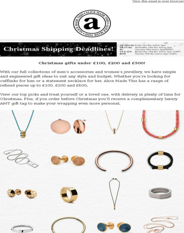 Christmas gifts under £100, £200 and £500!