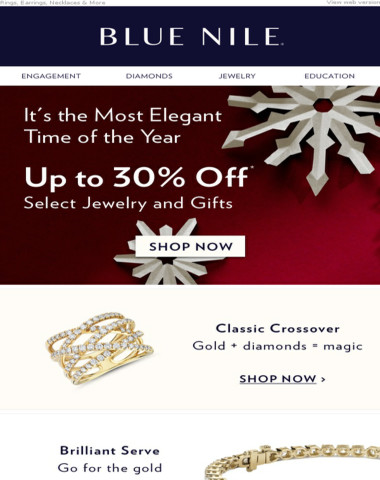Holiday Savings Have Arrived: Featuring Gifts Of Gold Up To 30% Off