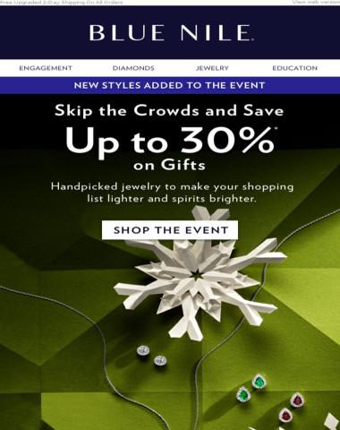New Styles Added! Up To 30% Off Diamond & Gemstone Jewelry