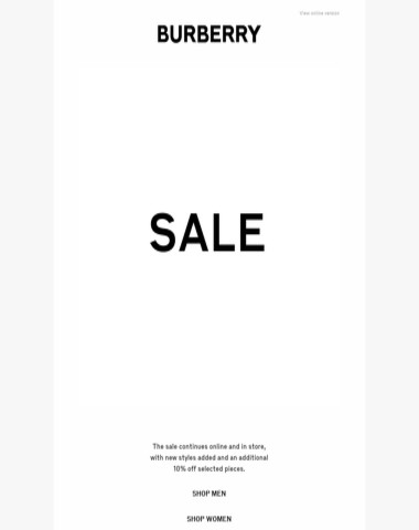 The Burberry Sale: Further Reductions