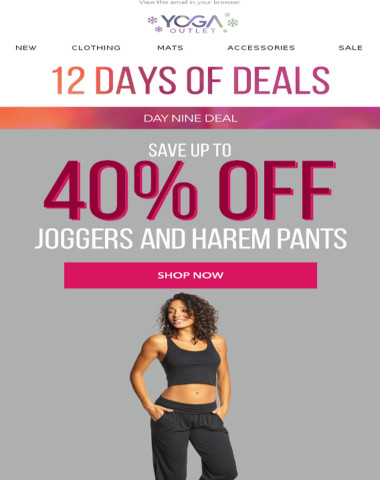Up to 40% Off Joggers + Spend $100, Get $10