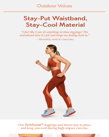 Have you tried our best material for sweaty activity?