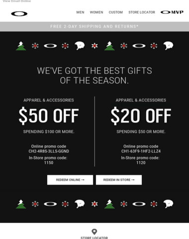 Get Up to $50 Off Apparel & Accessories