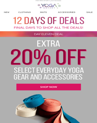 Extra 20% off Everyday Yoga Gear & Accessories