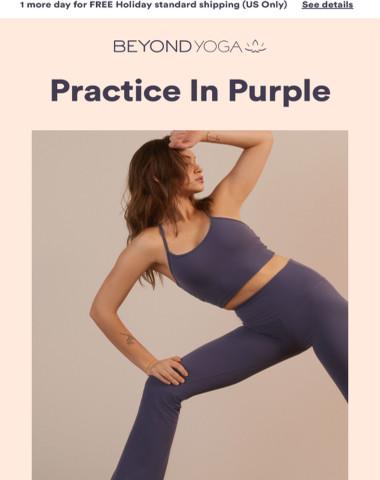 NEW HUE: Purple Practice Pants