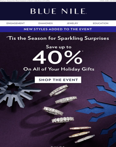 Sale Extended! Now Up To 40% Off Holiday Diamond Jewelry & More